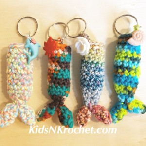 Mermaid tail chap stick / lip balm key chain set of 2