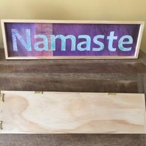 Namaste Hanging Sign - Yoga Sign - Wooden Namaste Sign - Namaste - Namaste Decor - Yoga Decor