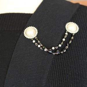 Pearl and Rhinestone Sweater Keeper