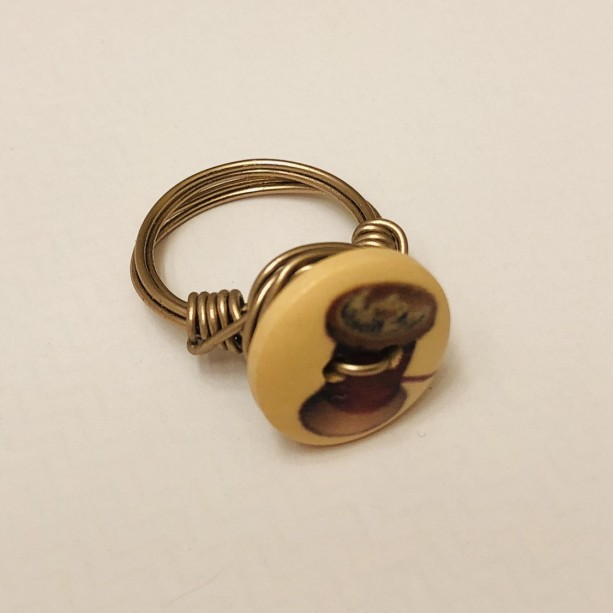 Sewing Button Ring