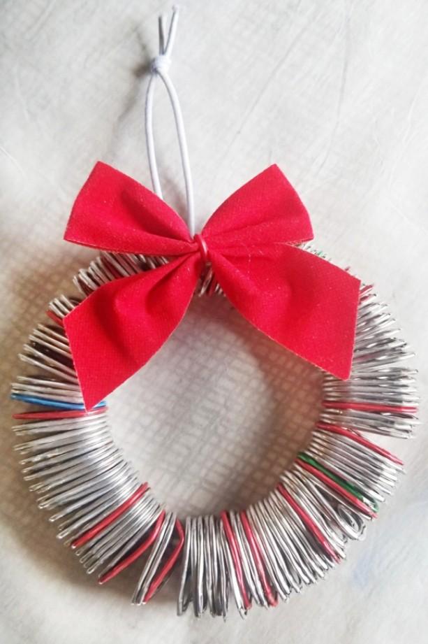 Soda Tab Wreath Ornament