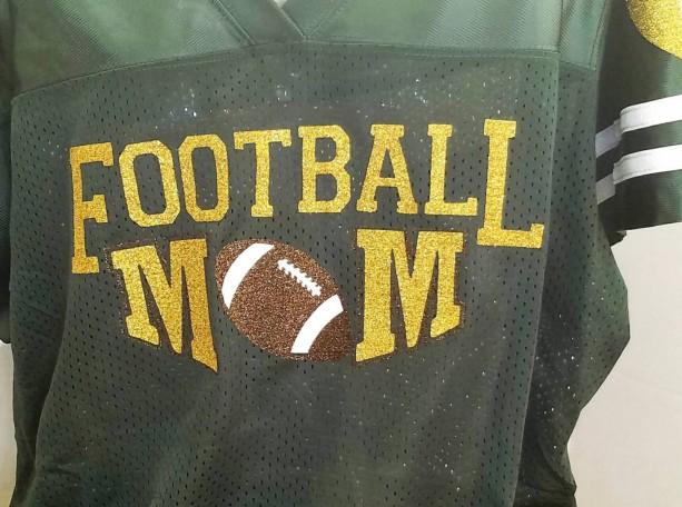 b7f5c4994f6 ... Custom Ladies Football Jersey with Glitter for Football Mom Homecoming Jersey  shirt Football Mom School Spirit ...