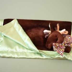 Brown Horse Security Blanket, Lovey Blanket, Satin, Baby Blanket, Stuffed Animal, Baby Toy - Customize Color - Monogramming Available