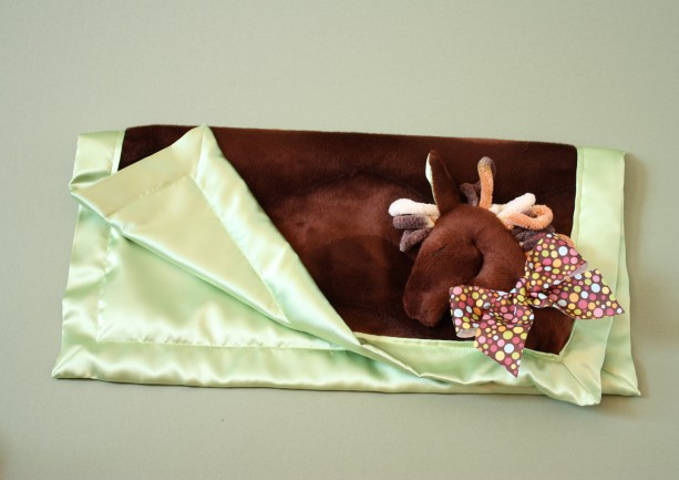 Horse Security Blanket Lovey Blanket Satin Baby Blanket