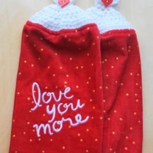 Love You More Crochet Kitchen Towel, Set of 2