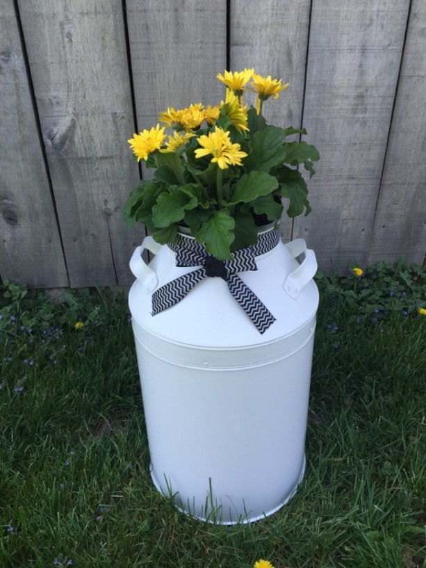 Planter Milk Can Rustic Beach House Decor Front Porch Outdoor