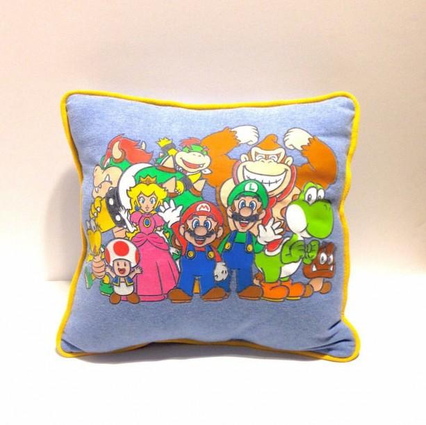 Super Mario Bros T-shirt Pillow