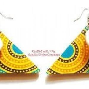 Ankara Earrings, Cowrie Shell Earrings, Ankara Print Cowrie Earrings, Ankara Cowrie Shell Earrings, Cowrie Cowry Shell Statement Earrings
