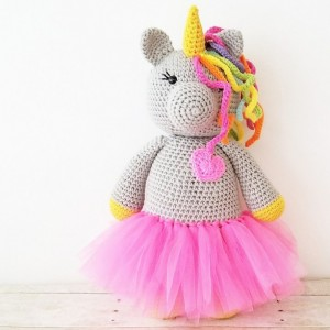 Crochet Unicorn Tutu Doll