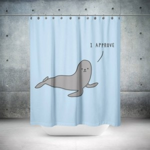 Retro Seal Shower Curtain
