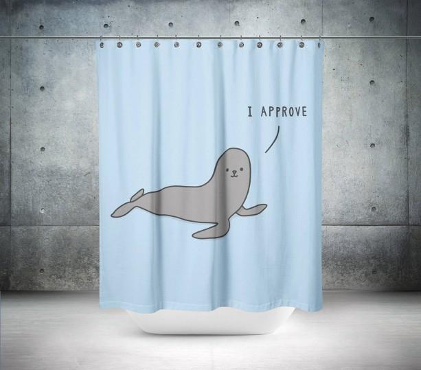 Retro Seal Shower Curtain