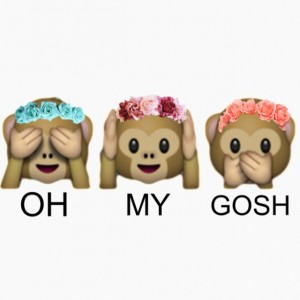 """OMG"" Tumblr Emoji Monkeys (Flower Crowns)"