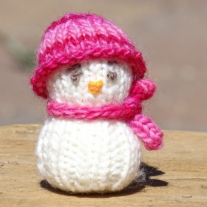 Snowman, Knitted Snowman, Tree Ornament, Holiday