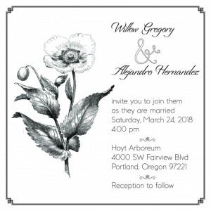 Custom Wedding - Invitations - Vintage - Poppy - Set of 20 - Customized