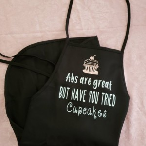 Funny Apron for the Baker, adult apron, kitchen accessories, cupcake lover