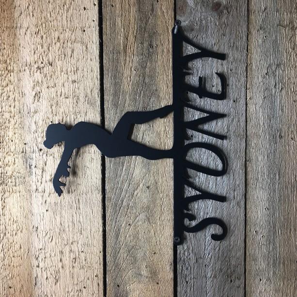 Gymnastics Sign, Metal Signage, Personalized Sign, Metal Art, Wall Art , Home Decor, Customizable Sign, Sport Sign, Custom Metal Signs