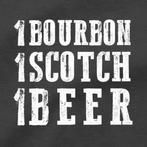 1 Bourbon 1 Scotch 1 Beer Men's T Shirt, Bartender Just One More Shot Of Whiskey Alcohol Bar Concert Unisex Cotton Tee Shirt