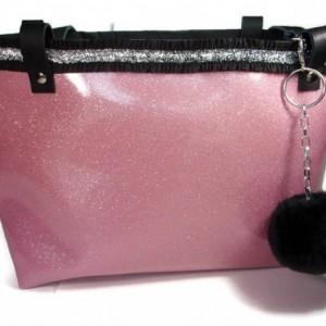 Pink Tote, Pink Purse, Vinyl Tote Bag, Tote, Tote Bag, Womens Tote, Bags and Purses, Large Tote, Purse Tote, Vinyl Purse, Large Purse