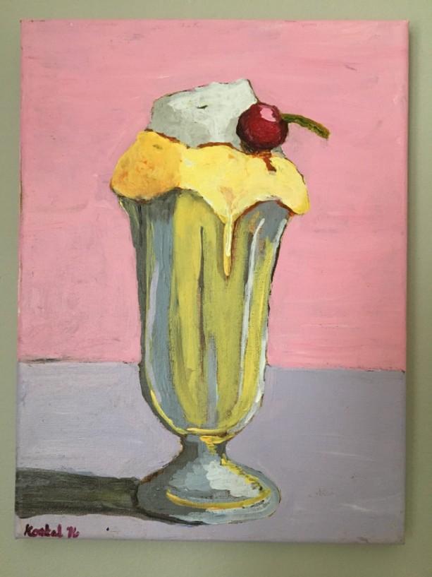 Ice Cream Malted after Wayne Thiebaud. Yummy milkshake!