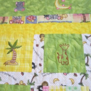 Adorable Animals Flannel Baby Quilt