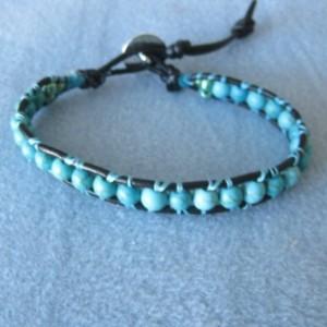 Soft leather wrapped bracelet Designer look without designer price tag LW14