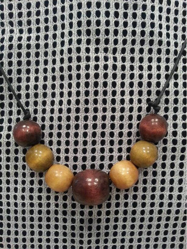 Men's Earth Wooden Bead Choker/Necklace