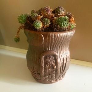 Fairy House Planter/Votive Candle Holder