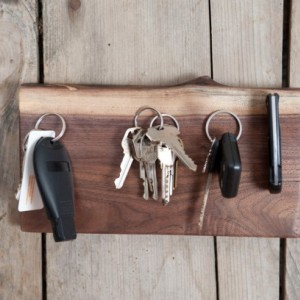 Walnut Live Edge Key Ring holder