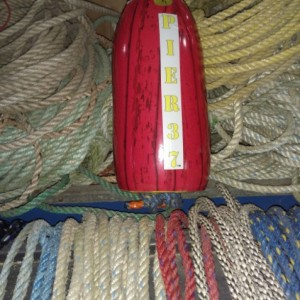Red Peeled wood grain! A real Maine lobster buoy!
