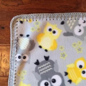 Fleece Owl Print Blanket