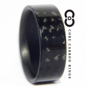 Carbon Fiber Twill Gloss Ring