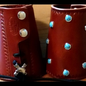 Ladies English Bridle Leather Cuff Bracelet