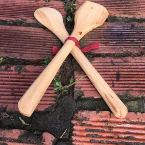 Wooden Spoon and Spatula Set - Pecan Wood - Right Handed