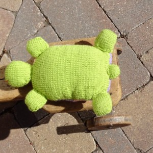 Turtle, Small Pillow, Hand Knit Toy, Knitted Turtle, Striped Toy, Ready to Ship