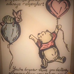 You're braver than you believe... - Winnie the Pooh Quote - Unique, Personalized, Custom Made - GREAT, UNFORGETTABLE GIFT!