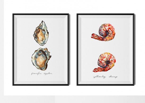 Any Two 8x10 Food Illustrations, Mix and Match, Kitchen Art, 2 Paintings, Art Print, Vegetable Print, Print Set, Food Art, Vegetable Art,