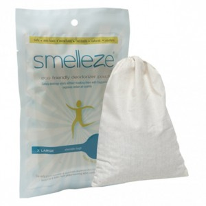 SMELLEZE Reusable Human Scent Remover Deodorizer: 2 Pouches to Hunt Scent Free