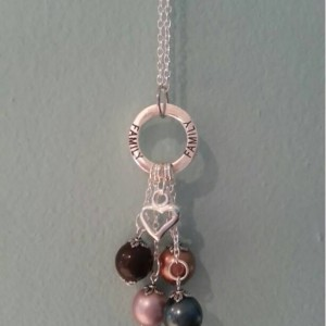 Family Swarovski Birthstone Pearl Necklace