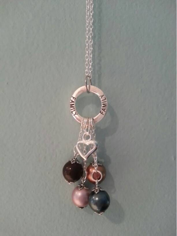 Family Swarovski Birthstone Pearl Necklace