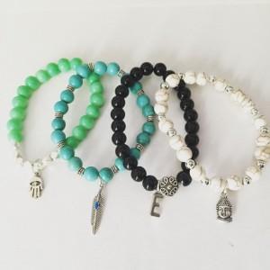 Stackable Bracelets, Buddha Bracelet, Hamsa Hand Bracelet, Matching Bracelets, Initial Bracelets, Personalized Bracelets, Set Of 3 Bracelets
