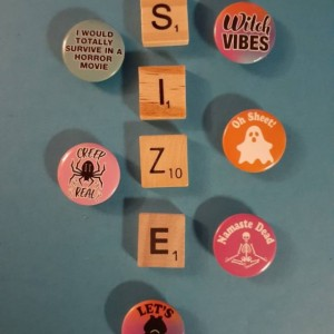Magnets, 6 Strong Refrigerator Magnets, Cubicle Decor, Locker Magnets, Office Supply,Funny,Pun,Ghost,Witch,Bat
