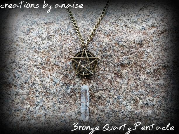 Bronze Quartz Pentacle Necklace