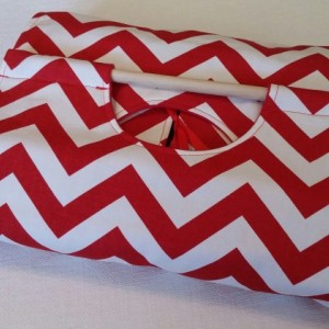 Red Chevron 9x13 Casserole Carrier, Free Shipping, Made in America