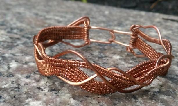 Woven Braided Copper Bracelet