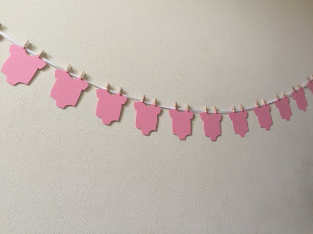 onesie garland onesie banner diy onesie banner baby shower ban