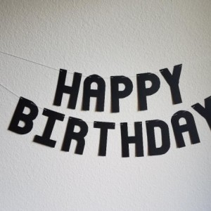 Black Happy Birthday Banner