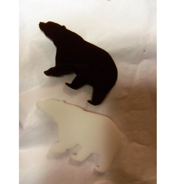 bear charms, polar bear charms, black bear,laser cut