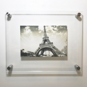 Acrylic Floating Frame, Acrylic Free Standing Frame, Modern Picture Frame,  All Colors Frame, Easy Hung, Standoff Bolts, Photo Frame,Floater