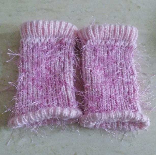 Pink Toddler Knit Leg Warmers