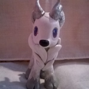 Custom OOAK My Little Pony Toy Figure: Silver the Reindeer